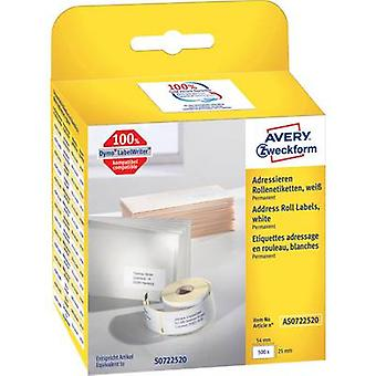 Avery-Zweckform 54 x 25 mm papel blanco 1 PC