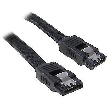 BitFenix Festplatten Kabel [1 x SATA-Stecker 7-polig - 1 X SATA Steckdose 7-polig] 0,30 m schwarz