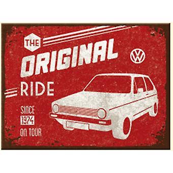 VW Volkswagen Golf Original Fahrt Stahl Kühlschrank Magnet