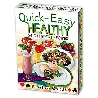Recettes santé faciles rapides jeu de 52 cartes à jouer (+ Jokers)