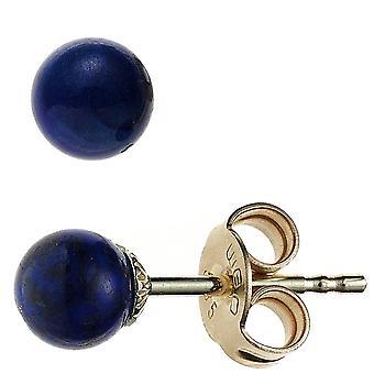 Gemstone Stud Earrings 585 Gold Yellow Gold 2 lapis lazuli earrings gold lapis lazuli earrings