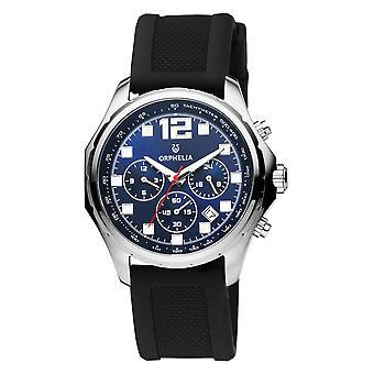 ORPHELIA Men Dual Time Watch Black Plastic OR86700