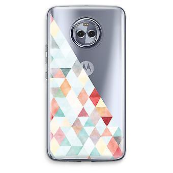 Motorola Moto X4 Transparent Case - Coloured triangles pastel