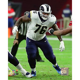 Rodger Saffold 2017 Action Photo Print