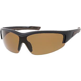 Semi TR-90 bez oprawek Wrap sportowe okulary polaryzacyjne Tarcza obiektyw 76mm