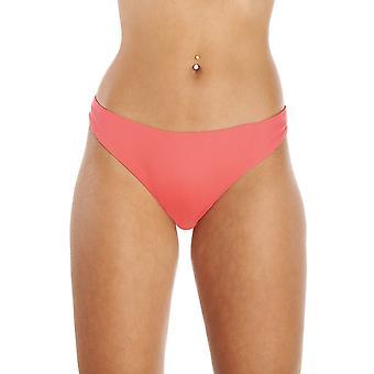 Camille Coral Pink hohen Bein Bikini Bottoms