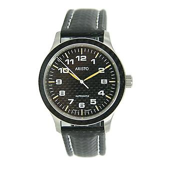 Aristo mens carbon watch automatic 7 H 81