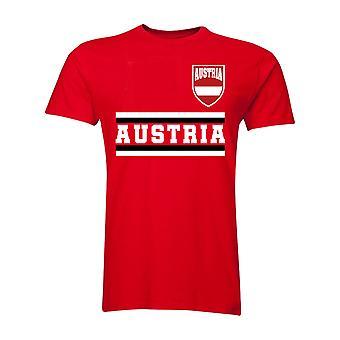 Østrig Core fodbold land T-Shirt (rød)
