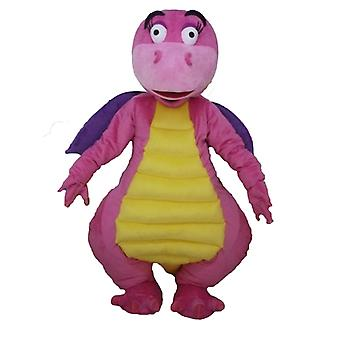 mascot dragon pink, purple and yellow, attractive and colorful SPOTSOUND