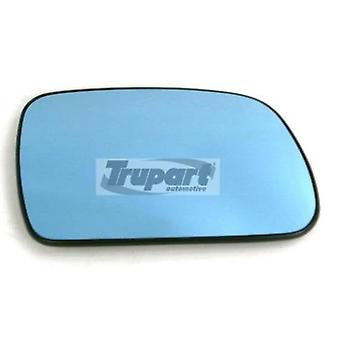 Right Blue Mirror Glass (heated) & Holder for PEUGEOT 407 SW 2004-2010