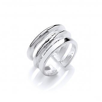 Cavendish Franse Zilveren Ring met drie lijn