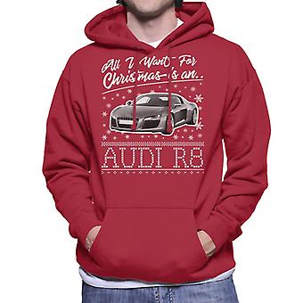 All I Want For Christmas Is An Audi R8 Men's Hooded Sweatshirt