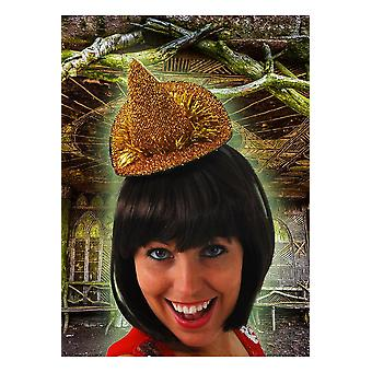 Hair accessories  Small witch hat gold