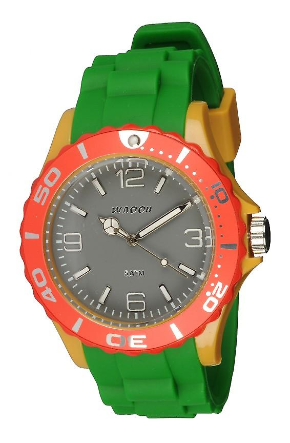 Waooh - Montre MC42 Multicolore gris rouge & jaune moutarde