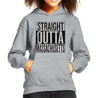 Zwarte tekst Straight Outta Massachusetts ons stelt Kid's Hooded Sweatshirt