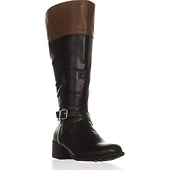 Style & Co. SC35 Venesa Wide Calf Riding Boots, Black/Barrel
