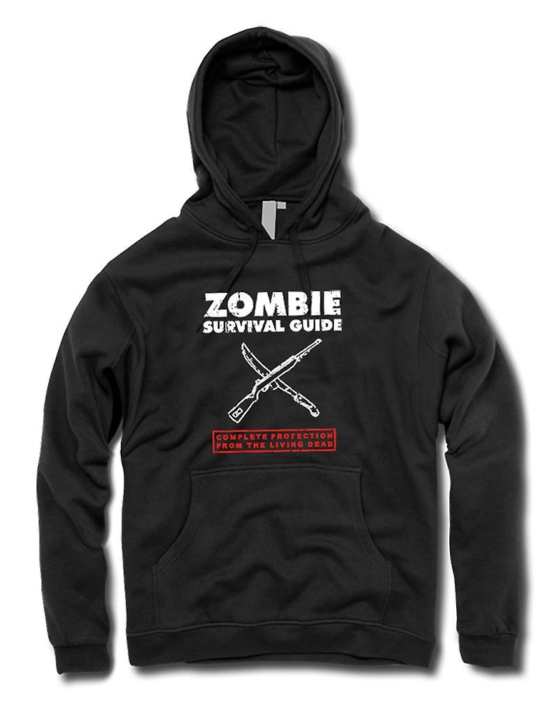 Mens Hoodie - Zombie Survival levande döda - Funny