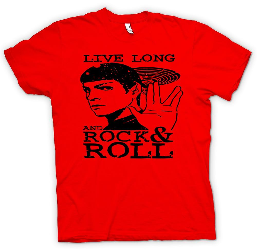Mens T-shirt-Spock - Star Trek - Live lange Rock