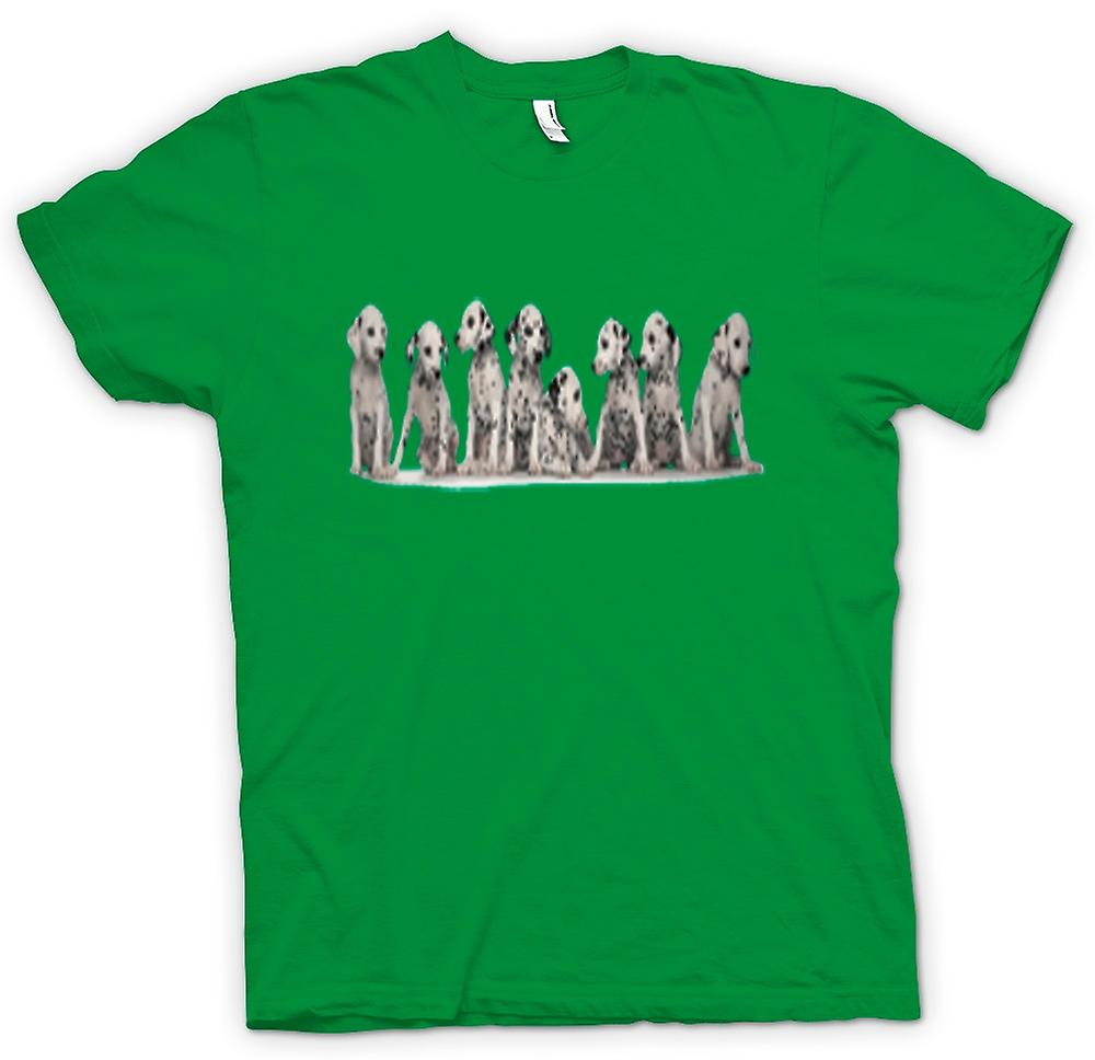 Mens T-shirt-Dalmation mignon chiots