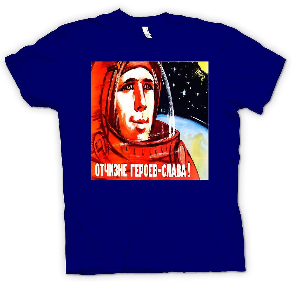 Hommes T-shirt - Youri Gagarine - cosmonaute russe