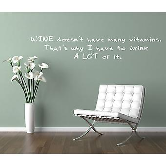 Wine Doesn't Have A Lot Of Vitamins Wall Sticker