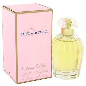 SO DE LA RENTA by Oscar de la Renta Eau De Toilette Spray 3.4 oz / 100 ml (Women)