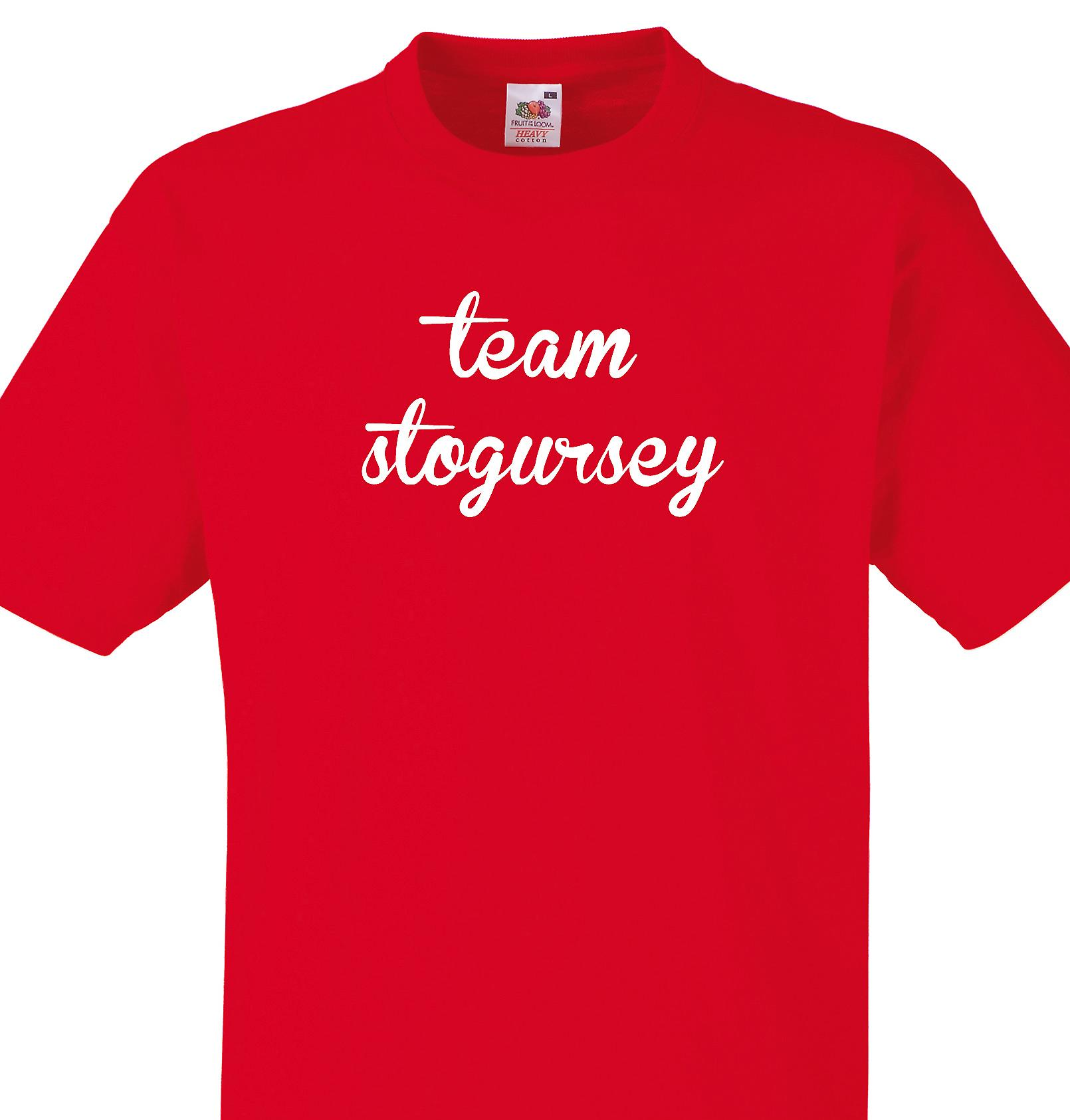Team Stogursey Red T shirt