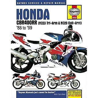 Honda CBR400RR Fours motorfiets reparatie handleiding