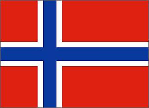 Norway Flag 5ft x 3ft With Eyelets For Hanging