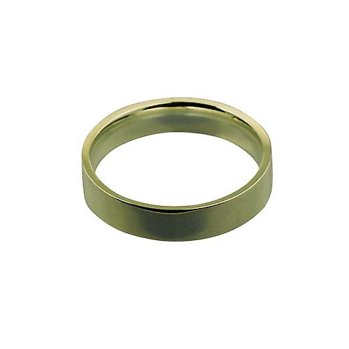 18ct Yellow Gold 5mm plain Flat Court shaped Wedding Ring