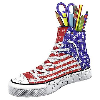 Ravensburger American Flag Sneakers 108pc 3D Jigsaw Puzzle