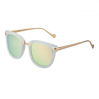 Bertha Jenna Polarized Sunglasses - Mint/Gold-Green
