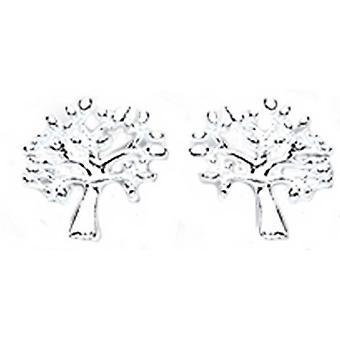 Bella Tree of Life Stud Earrings - Silver