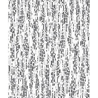 Mozaïek Effect zwart wit grijs geweven Glitter keuken badkamer behang