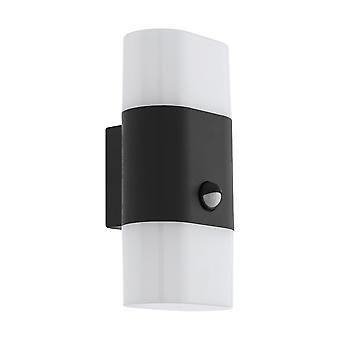 Eglo Favria 1 udvendige PIR dobbelt væglampe i antracit