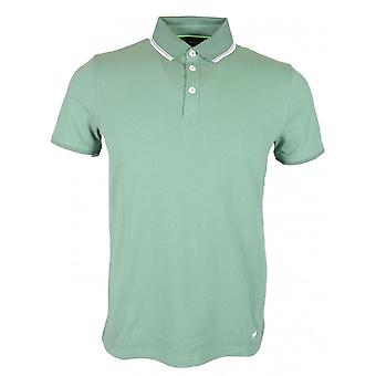Hugo Boss Poltron Short Sleeve Cotton Green Polo Shirt