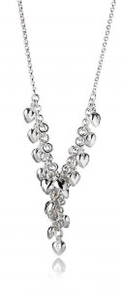 Cavendish French Raining Silver Hearts Necklace