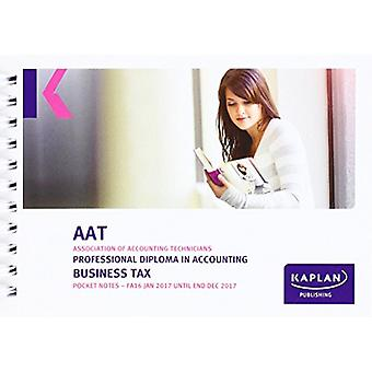 AAT Business Tax FA2016 - Pocket Notes by Kaplan Publishing - 9781784
