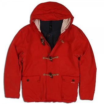 Scotch & Soda Duffle Coat With Inner Quilted Detachable  Jacket Combination (Orange)