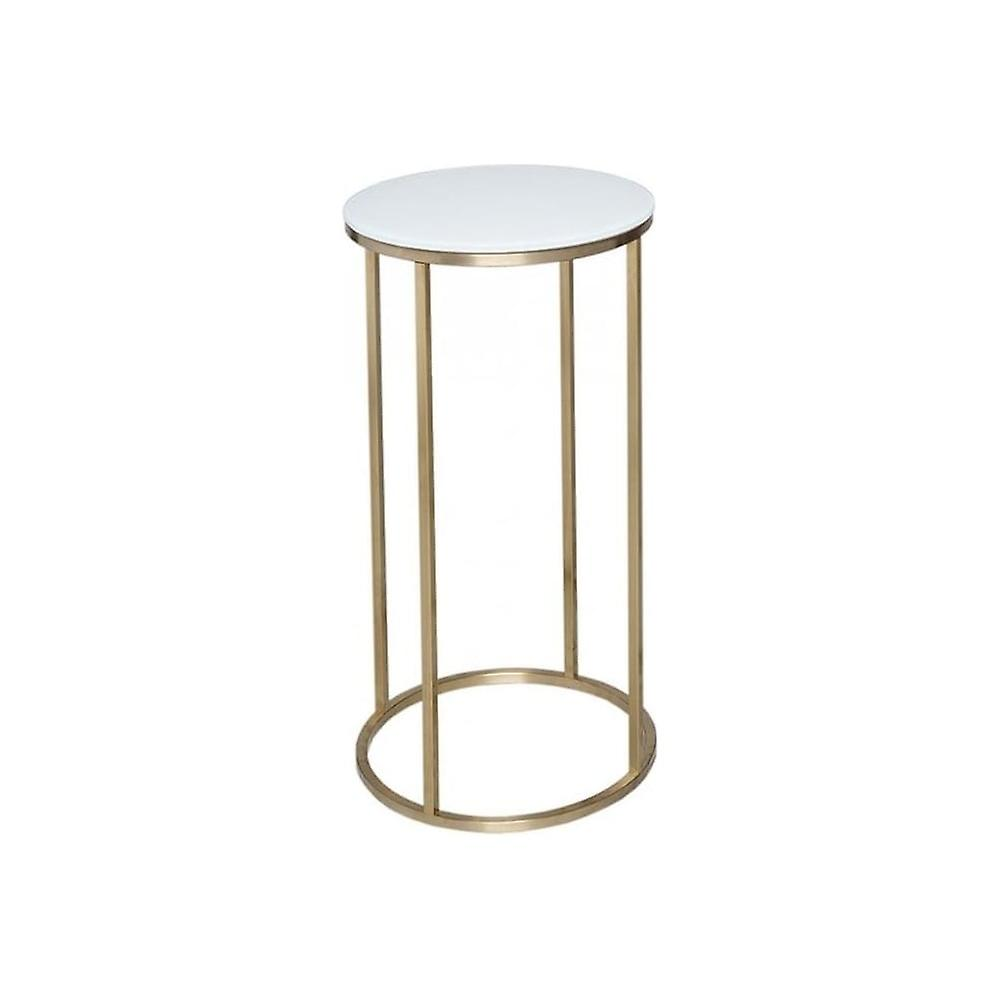 Gillmore Space blanc Glass And or Metal Contemporary Circular Lamp Table