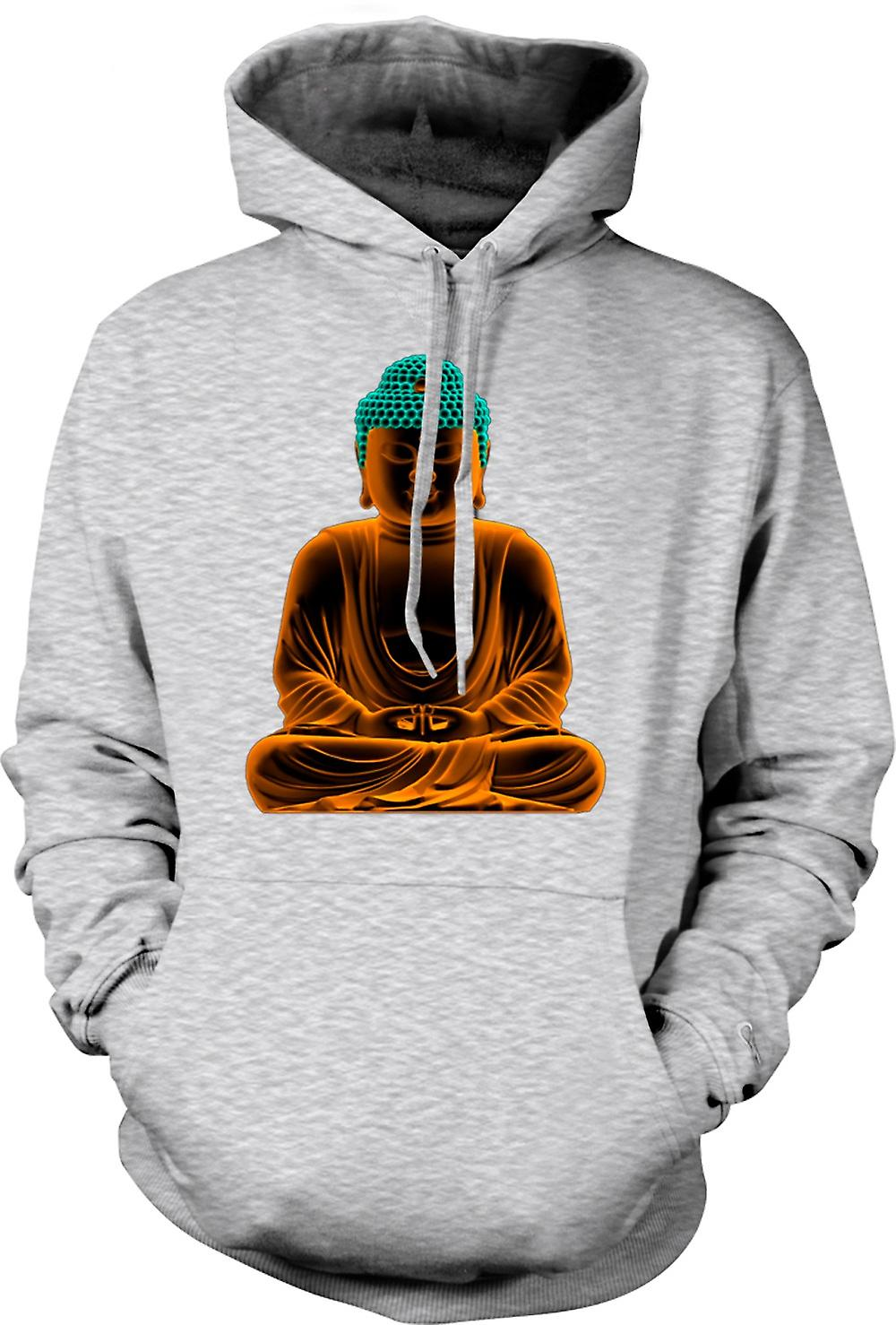 Mens Hoodie - sereno Buddha d'oro - spirituale