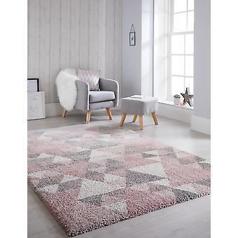 Dakari Nuru Pink Cream Grey  Rectangle Rugs Modern Rugs