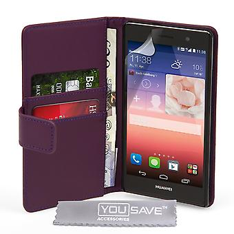 YouSave Huawei Ascend P7 LeatherEffect Wallet RS lila