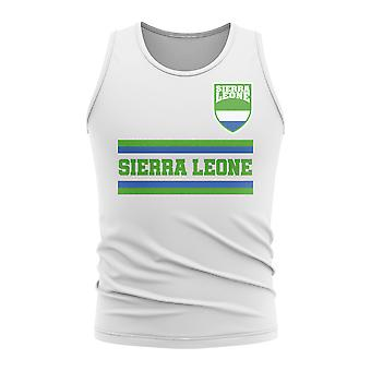 T-shirt senza maniche di Sierra Leone Core Football Country (Bianco)