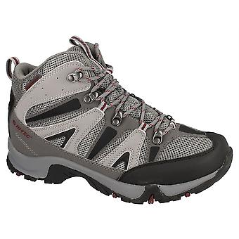 Mens Ankle Hiker Boots Hi Tec Waterproof Lace Up Walking Trail Shoes