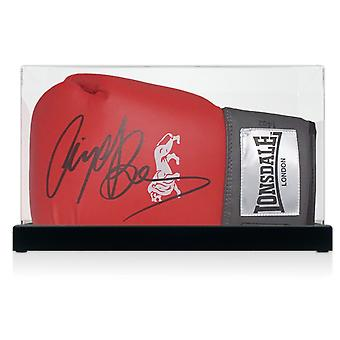 Nigel Benn Signed Boxing Glove In Display Case