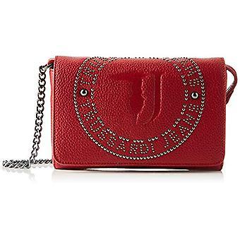 Trussardi Jeans Harper Pochette Tumbled Ecolea Red/Gunmetal Wrist Bag 27x15x33 cm (W x H x L)