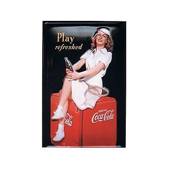 Coca-Cola ' garota de tênis ' gravado sinal de aço