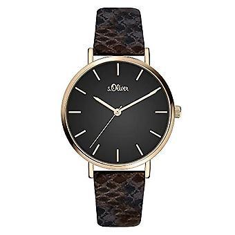 s.Oliver Quartz Women's Analog Clock with SO-3849-LQ Leather Belt