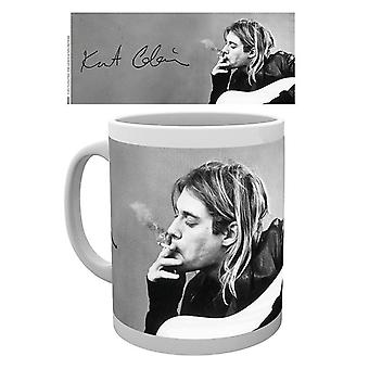 Kurt Cobain Smoking Ceramic Coffee Mug (ge)